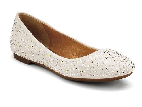 Sperry  Emma White Glitter Embellished Ballet Flats 2e3f94f23