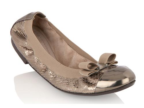 4b11ac5efb4 Salvatore Ferragamo  Elastic Brown Bow Ballet Flats