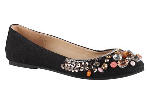 16eb97a99cc aldo  MILLE Black Embellished Ballet Flats